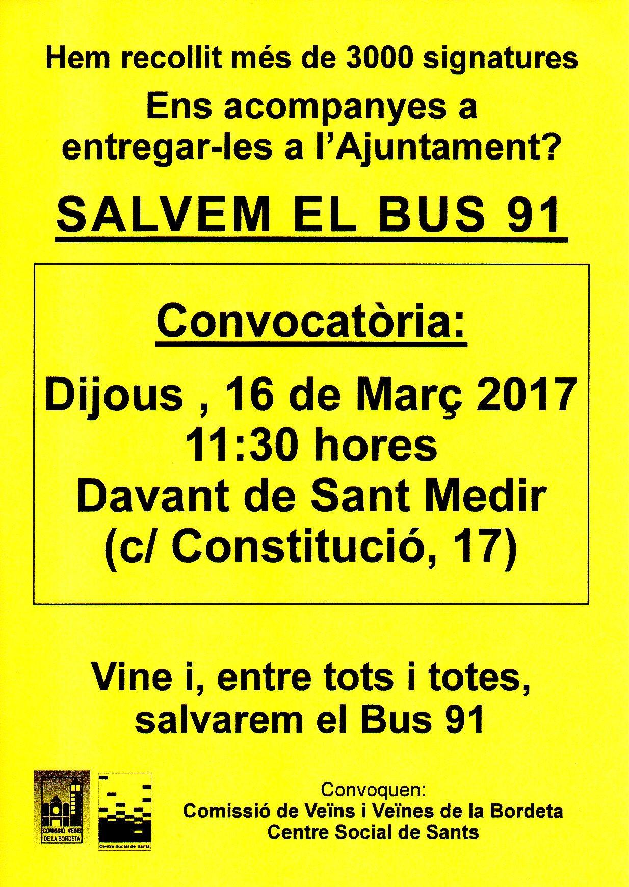 20170316 Entrega signatures al Districte