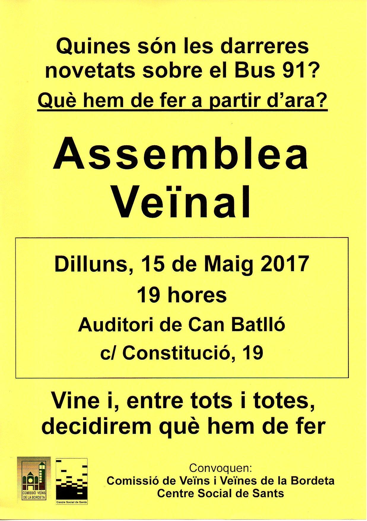 20170515 Assemblea Veïnal Bordeta