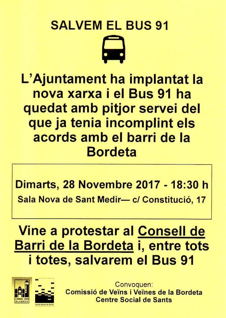 20171128 Bus 91 al Consell Barri def